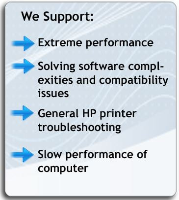 HP Assistant Support Help